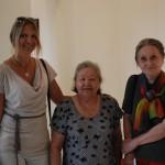 В середине Замира Исмаиловна Усманова (заведующая кафедрой археологии ТашГУ, первая женщина археолог в УзССР) и справа - Маргарита Ивановна Филанович