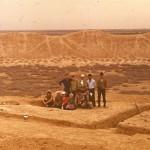 Раскопки центральной части Эрк-калы. Руководитель работ Замира Исмаиловна Усманова.