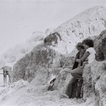 Марчук Вита и Петр Гендельман любуются прекрасным видом, открывающемся с крутого обрывистого склона Чеча-ктепе.