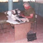 На археологической базе Гебеклы-депе (Туркмения)