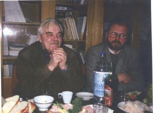 Г.А.Кошеленко и В.Д.Кузнецов в Отделе классической археологии ИА РАН (Москва)