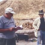 Геннадий Андреевич и Пьер Лериш на раскопках в Дура-Европос