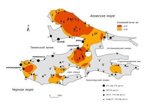 Поселения второй половины VI в. до н.э. – первой четверти V в. до н.э. (нумерация поселений по археологической карте Я.М. Паромова)